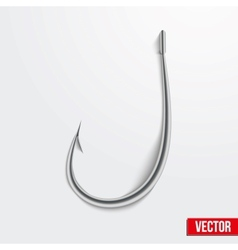 Realistic fishing hook vector
