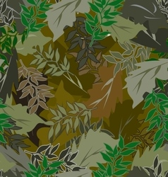 Seamless camouflage leaves different 1 vector