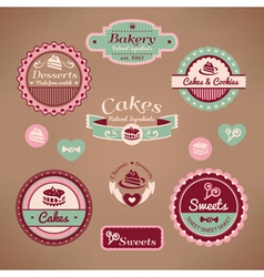 set of vintage bakery vector image