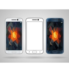 Smartphones with sloped edges vector