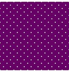 Tile pattern white polka dots on violet background vector image