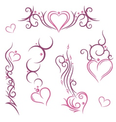 Tribal hearts love vector image vector image
