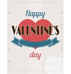 Vintage Valentines Day type text calligraphic vector image