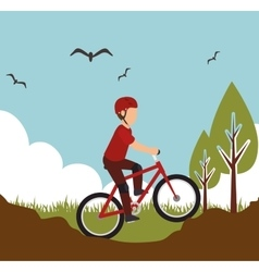 mountain bike rider sport design vector image