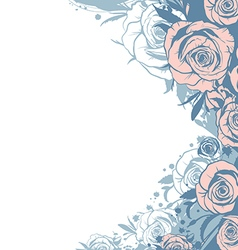 Template modern pink roses vector
