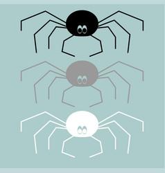 Black grey white spider icon black grey white vector