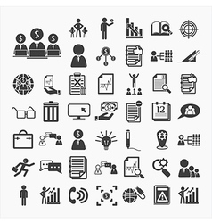 Business icons and finance vector