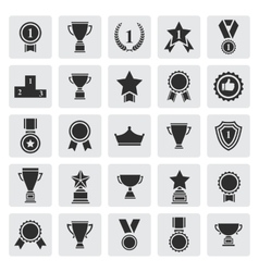 Big set of black award success and victory vector