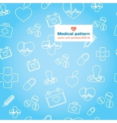 Medical and healthcare flat icon set vector