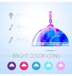 Luster icon with infographic elements vector