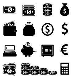 Money and banking icons vector