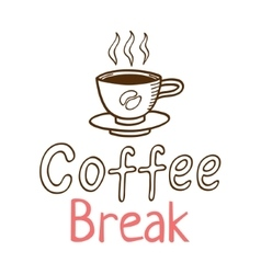 Coffee break vintage logo vector