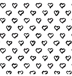 Abstract seamless heart pattern black and white vector