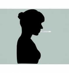 Woman with thermometer vector