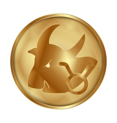 Taurus gold medallion drive vector