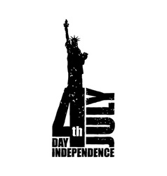 Independence day in america statue of liberty in vector