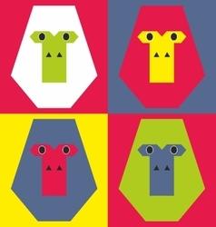 Abstract gorilla face vector