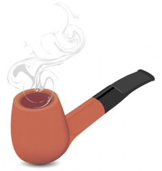 briar pipe vector image vector image