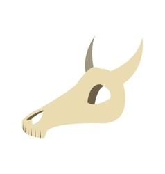 Bull or cow skull icon vector