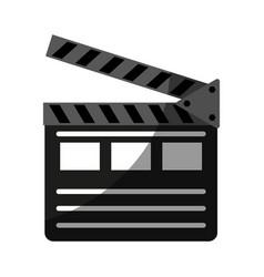 clapperboard movie icon image vector image vector image