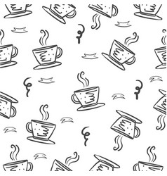 Coffee hand draw style doodles vector