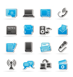 Communication and connection icons vector