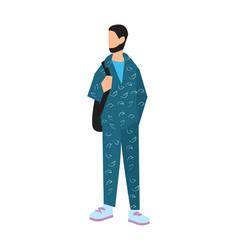 Elegant bearded man in sport suit vector