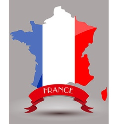 France flag map vector image vector image