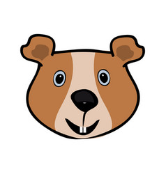 Guinea pig funny cute head pets vector