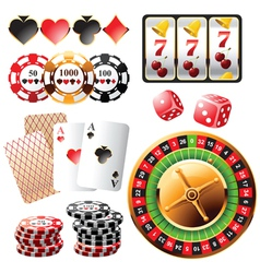highly detailed casino design elements vector image vector image