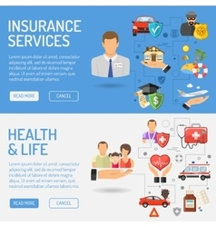 Insurance Services Banners vector image vector image