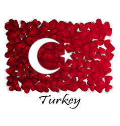 love turkey flag heart glossy with love from vector image vector image