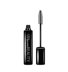 Mascara eye makeup the beauty industry vector