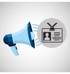 megaphone concept tv news design vector image vector image