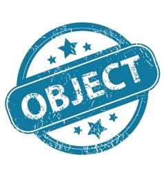 OBJECT round stamp vector image