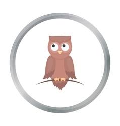 Owl icon cartoon singe animal icon from the big vector