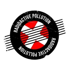 Radioactive pollution rubber stamp vector