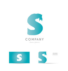 s blue letter alphabet logo icon design vector image