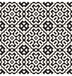 Seamless Black And White Ethnic Geometric vector image vector image