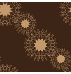 Seamless Brown Color Tile vector image