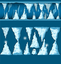 seamless cartoon cave vector image