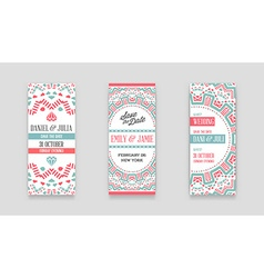 Set of design awesome wedding invitation template vector
