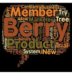 The berry tree now has a try it before you buy it vector