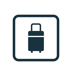 Travel bag icon rounded squares button vector