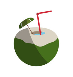 tropical cocktail with umbrella icon image vector image vector image