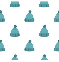 Woolen hat pattern flat vector