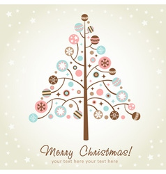Stylized design Christmas tree vector image