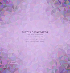 Purple colorful triangle mosaic background design vector