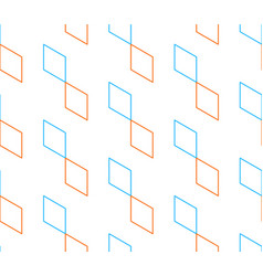 Rhombus pattern on white seamless backdrop vector