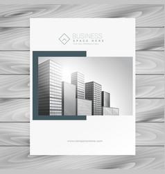 Company magazine cover presentation template vector